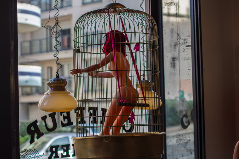 vitrine-barbie-spiderman moustache gaston limoges