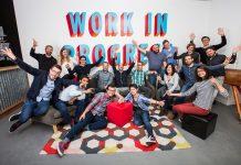 L'equipe d'Iconosquare prise en photo.