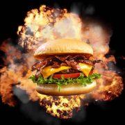 Burger explosion