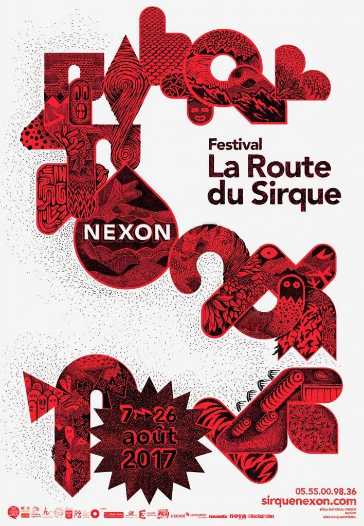 Affiche Route du Sirque 2017 Nexon