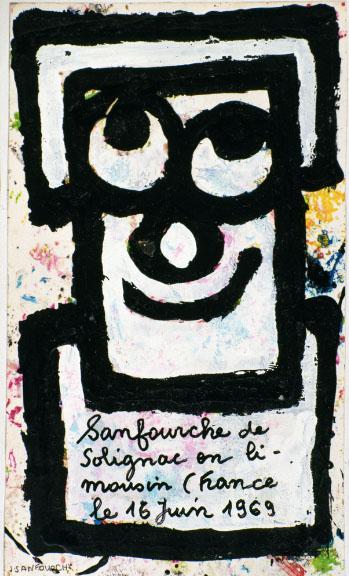 Sanfourche de Solignac en Limousin-France été 16 juin 1969