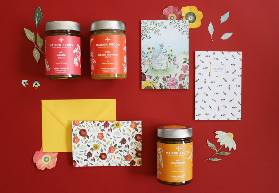 coffret-maison-fedon-miel-cartes-voeux