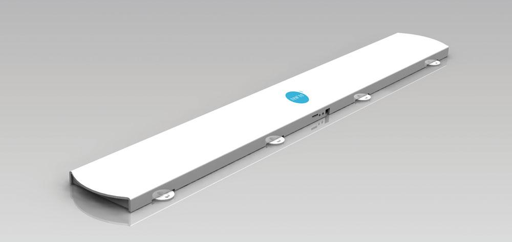 Le bandeau sonore NEW'EE se fixe sur la tête de lit et peut diffuser tous types de contenus sonores.