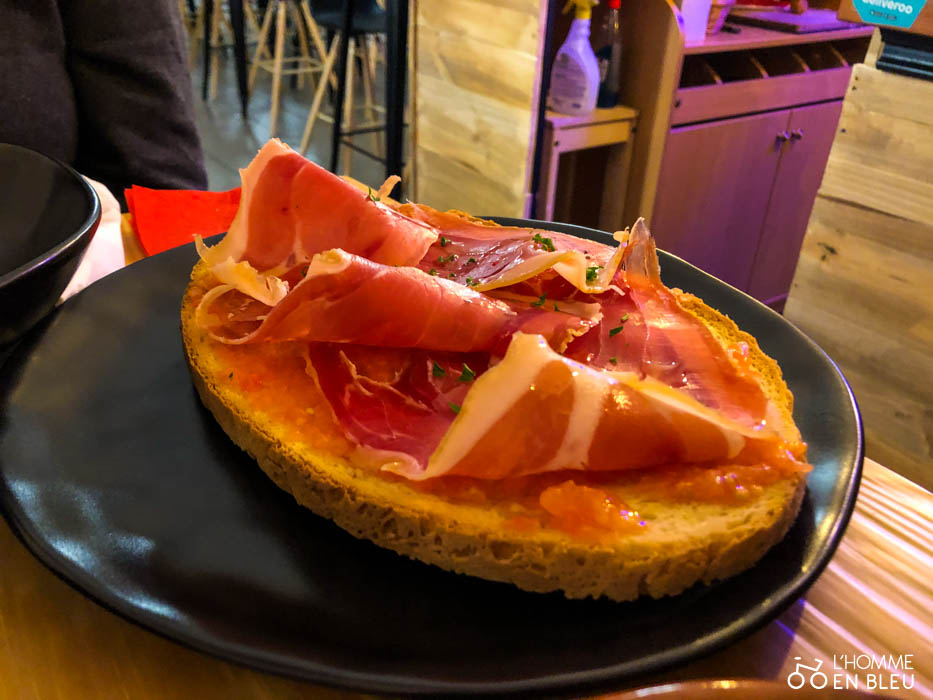 Pan con tomate de l'Espagnol