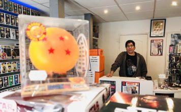 Jean-Baptiste Crédeuille gère la boutique Geeky's située au 14 rue du Temple à Limoges.