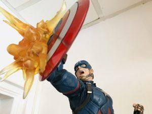 Cette figurine de Captain America est produite en 1000 exemplaires seulement. Il faudra débourser plusieurs centaines d'euros pour se l'offrir !
