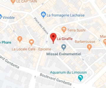 map La Giraffe