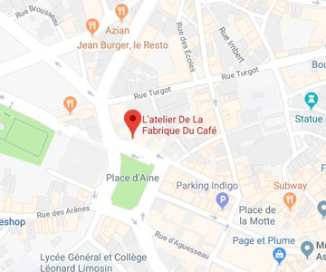 map L'atelier de la fabrique du café