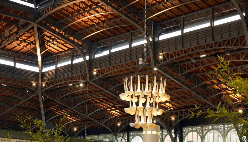 structure métallique de style Eiffel et charpente en bois des halles de Limoges