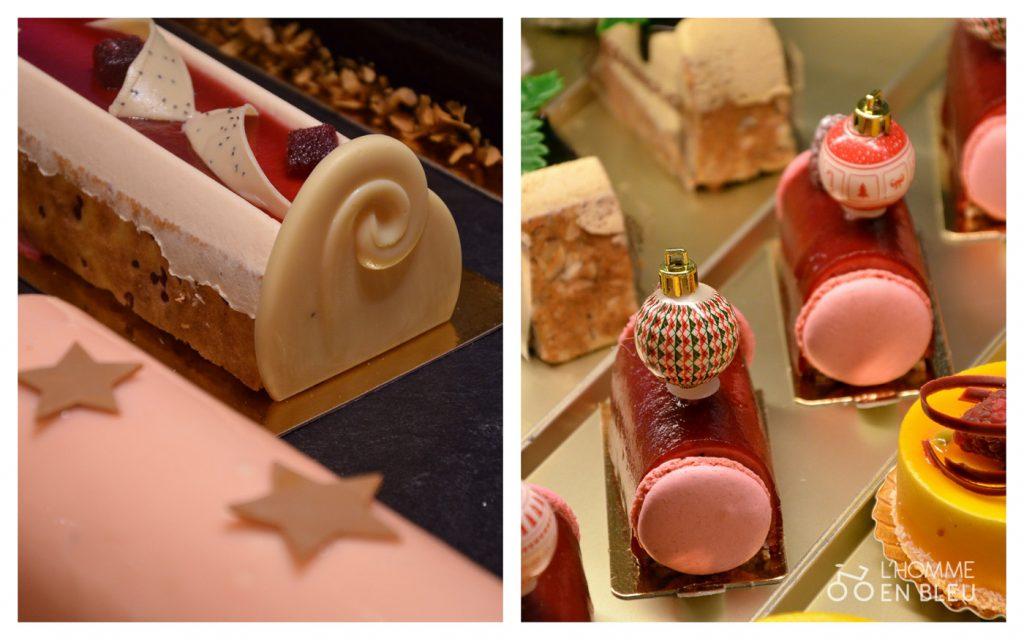 Bûches pâtissières roses