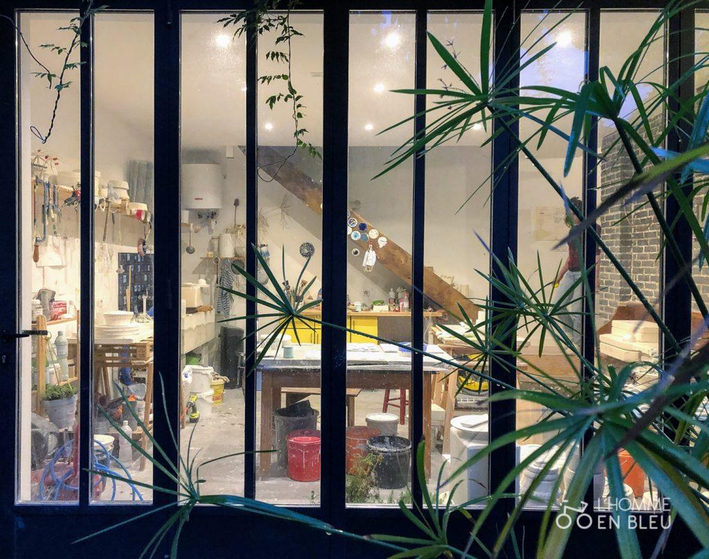 Vue extérieure de l'atelier de Mash Design