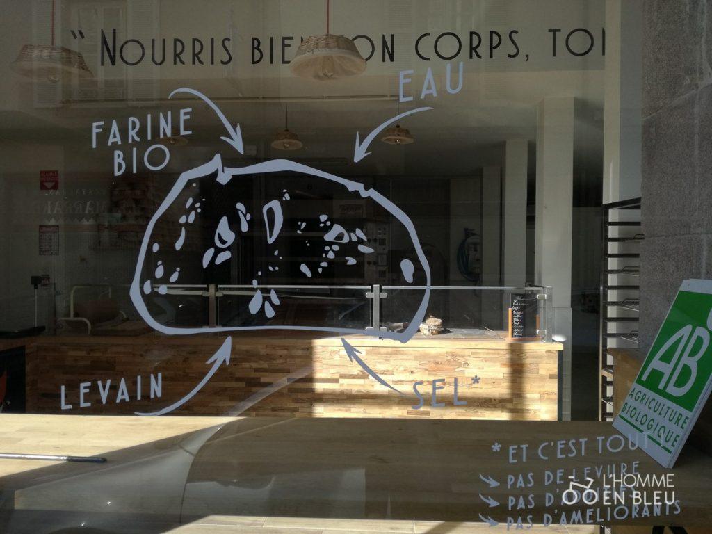Devanture de la boulangerie Chez Renard à Limoges