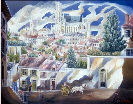 Le vieux Limoges - toile élie lascaux