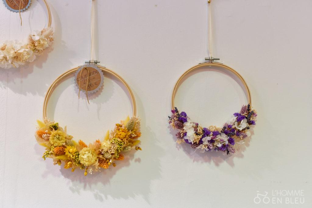 AugustMay-couronnes fleurs séchées