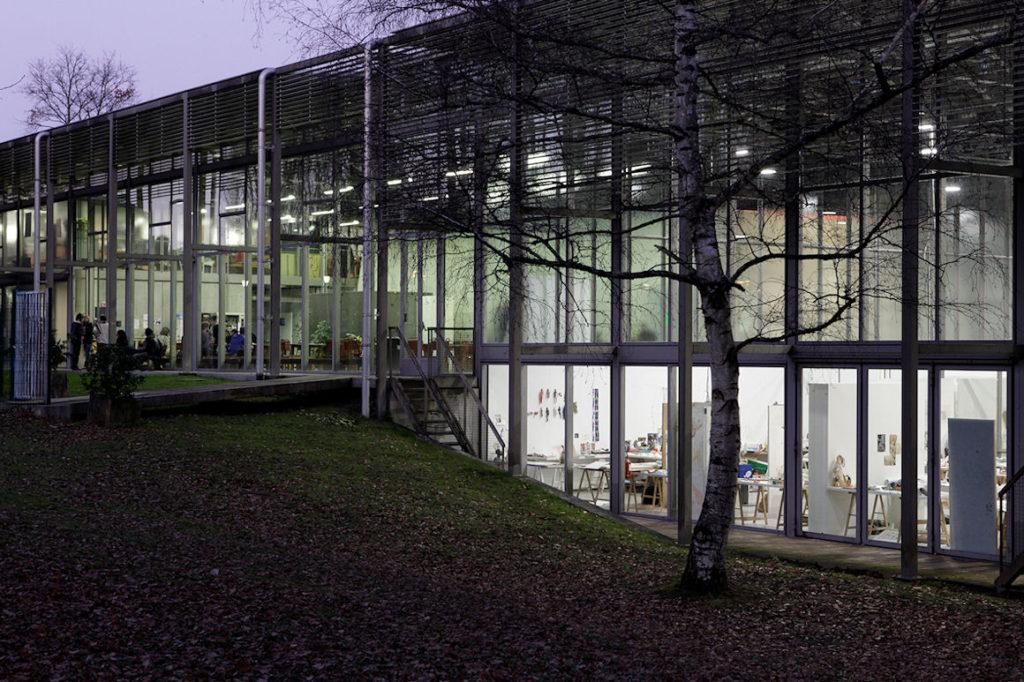 Vue extérieure de l'école nationale supérieure d'art de Limoges
