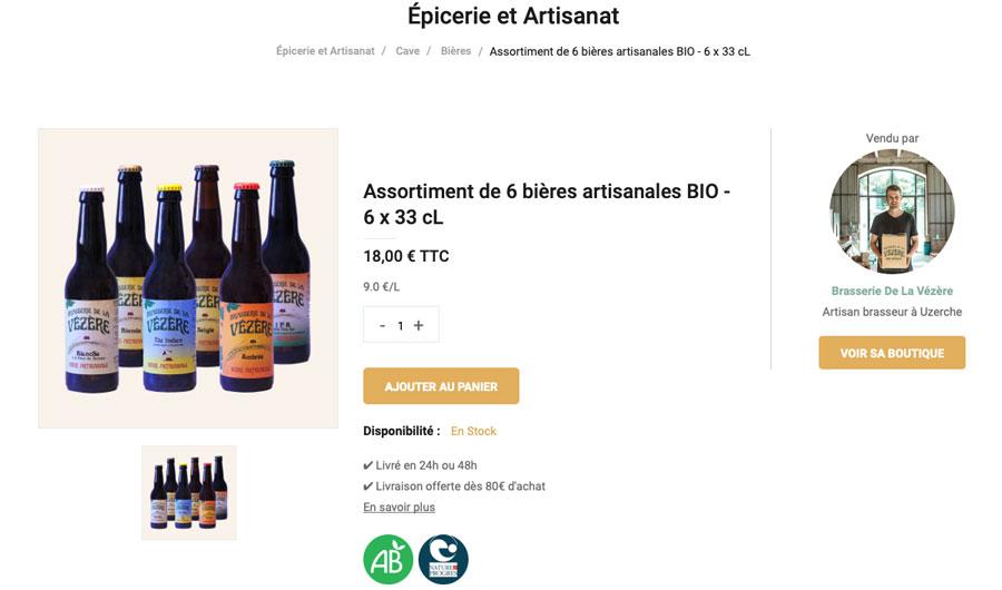 bière bio artisanale uzerche corrèze brasserie vézère