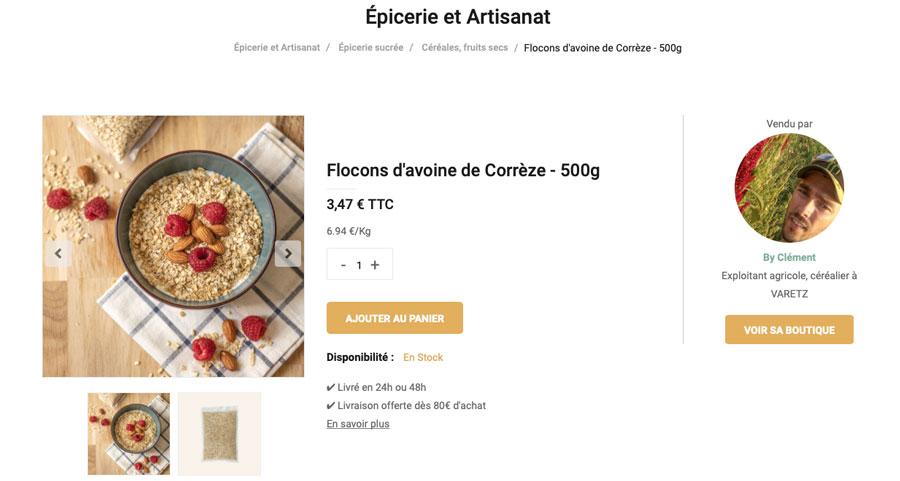 flocons avoine corrèze