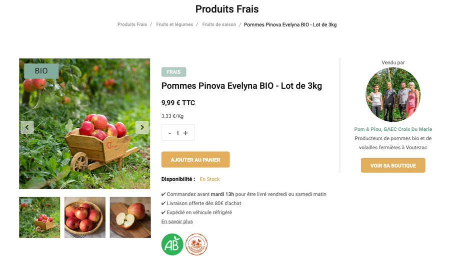 pommes bio Limousin