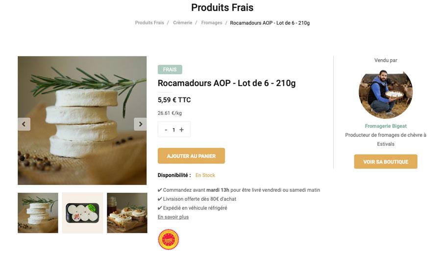 fromage chèvre rocamadour aop