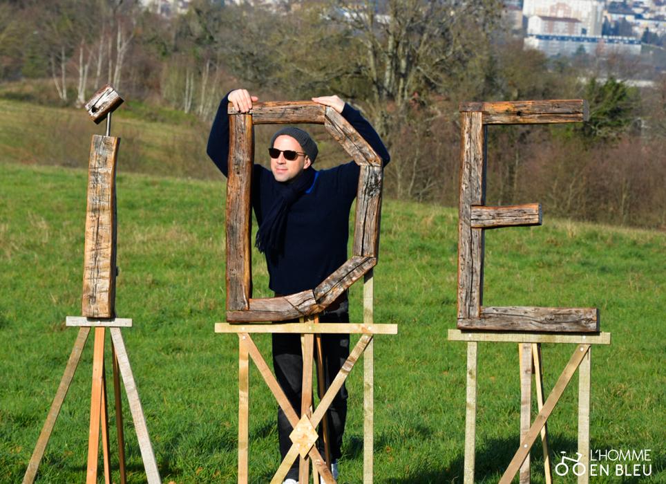 Baptiste César, artiste créateur de l'installation.
