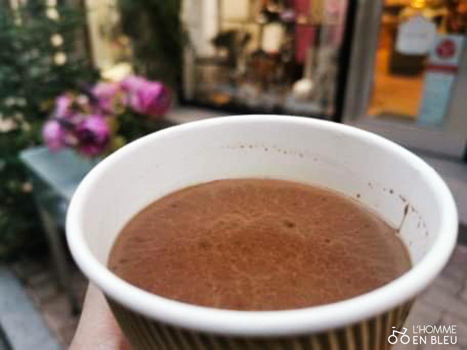 Chocolat chaud de la maison de thé L
