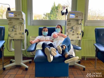 Deux infirmières de la maison du don de Limoges