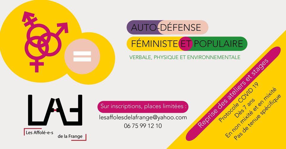 atelier d'autodéfense féministe Limoges
